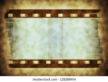 Hard light color, old film strip background and  texture