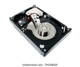 Harddisk, Computer hard drive on white background