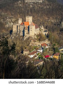 Hardegg, the smallest town in Lower Austria with its castle in early spring