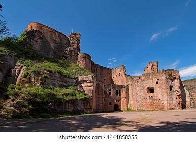 Hardenberg Castle at Bad Durkheim in Rhineland-Palatinate, Germany