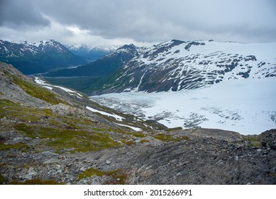 Harding Icefield Along With Exit Glacier In Alaska