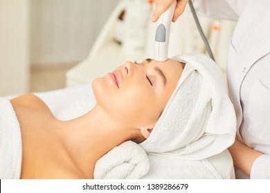 Hardware cosmetology. Cosmetology face procedure.