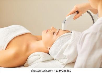 Hardware cosmetology. Cosmetology head procedure.