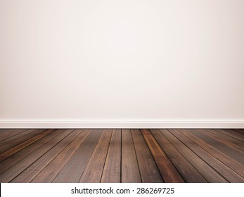 hardwood floor and white wall