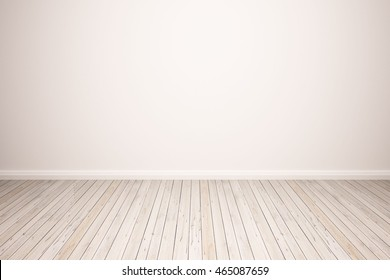 hardwood floor with white wall background. wood floor isolated. empty white wall backdrop: Isolated wooden floor on white color toned background. Oak wood floor with white wall