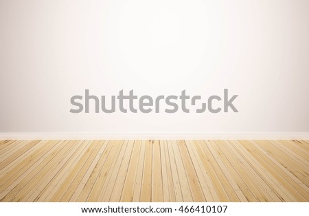 wood floor and wall background. hardwood floor with white wall background. wood isolated. empty  backdrop: and background