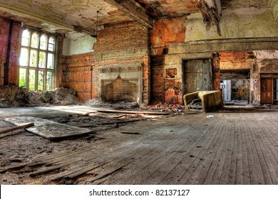 Hardwood floors. Abandoned City Methodist Church in Gary, Indiana.