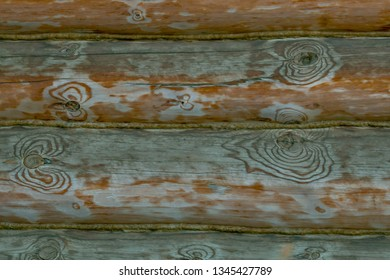 hardwood with many gnarl punctuated with rope to be home wall. wood background and texture.