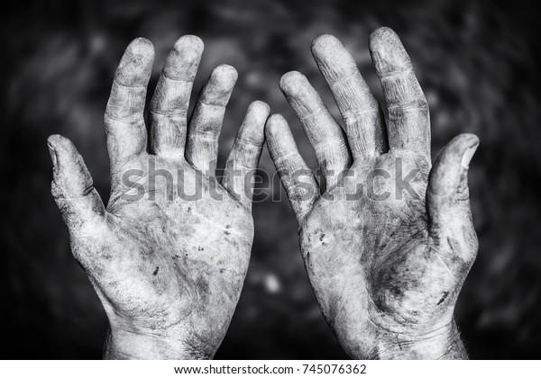 Hard-working hands