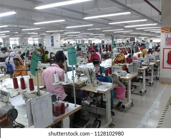 The hardworking people in the textile factory in Bangladesh, May 2015