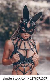 Hare mask / BDSM / BDSM art / Wild hare
