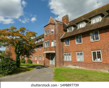 Harefield, London Borough of Hillingdon, England, UK - September 8th 2019: Harefield Hospital nurses home. Harefield Hospital is part of the Royal Brompton and Harefield NHS Foundation Trust.