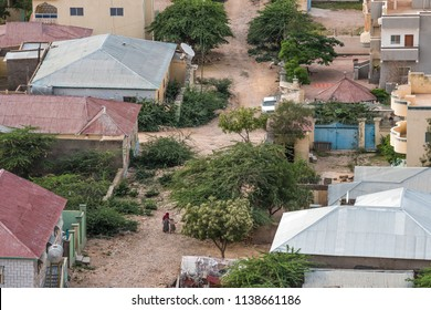 Hargeisa capital city of Somaliland near Somalia. City view of Arabic houses in Hargeisa