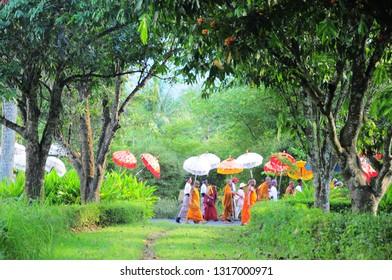 Hari Besar Waisak Magelang, Jawa Tengah-Indonesia. Maret, 14-2016. , Vesak day in Borobudur temple, buddhist from around the world come to celebrates vesak day in Borobudur temple and light a lampion.