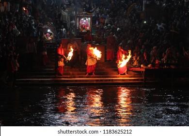 haridwar, uttarakhand in India november 2017 is ganga aarti