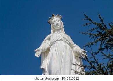 HARISSA, LEBANON - March 5, 2018 -  Lady of Lebanon statue.
