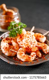 harissa spice mix - morrocan red hot chilles with king prawns