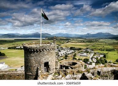Harlech castle, north Wales, United Kingdom