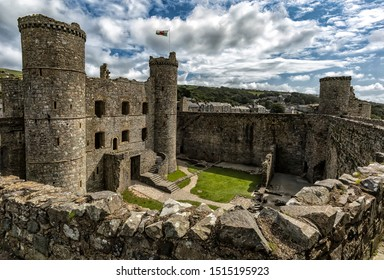 Harlech Castle in Wales, Great Britain, United Kingdom.
