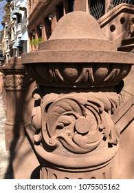 Harlem brownstone upclose