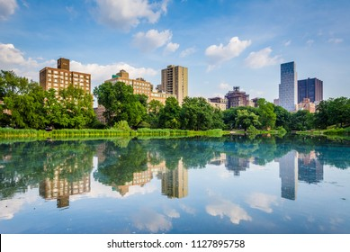 Harlem Meer in Central Park, Manhattan, New York City.