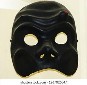 Harlequin, Arlecchino, true to original seventeenth century venetian mask