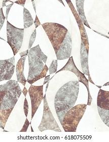 Harlequin brown white pattern