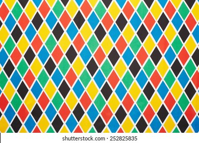 Harlequin colorful diamond pattern, texture background