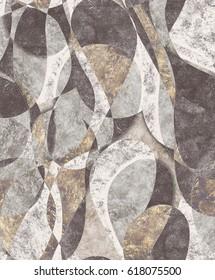Harlequin green grey pattern