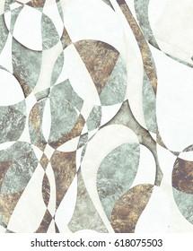 Harlequin greenish white pattern