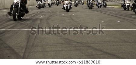 Harley motorcycle race in