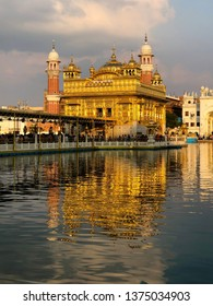 """The Harmandir Sahib also known as Darbar Sahib (""""Abode of God""""), is located in the city of Amritsar, Punjab, India. It is most important pilgrimage site of Sikhism. It is plated with gold."""