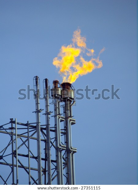 """Harmless"" by-product are rendered harmless by flaring at  petrochemical processing facility near Edmonton, Alberta"