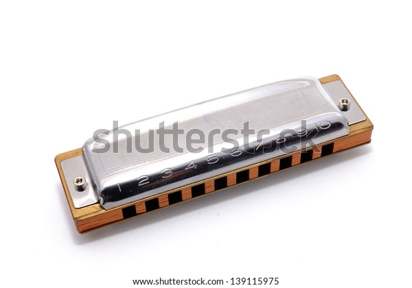 Harmonica French Harp Blues Harp Mouth Stock Photo (Edit Now