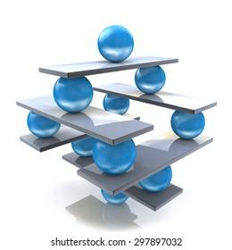 Harmony and balance. Conceptual image of perfect balance