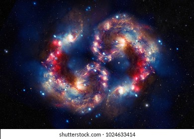 Harmony Galaxy - Elements of This Image Furnished By NASA