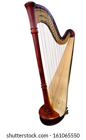 harp isolated under the white background