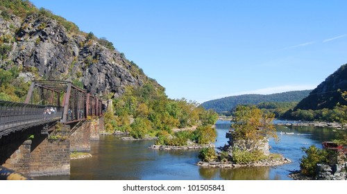 Harpers Ferry Bridge, West Virginia USA