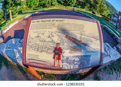 HARPERS FERRY, WEST VIRGINIA, USA-SEPTEMBER 3, 2018: A historic town in Jefferson County at the confluence of the Potomac and Shenandoah rivers.Known for John Brown's raid in 1859.