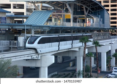 Harrah's / The LINQ  Monorail Station Las Vegas NV, USA 09-10-2014. The Las Vegas Monorail runs from the MGM Grand to SLS Las Vegas. The route has seven stations