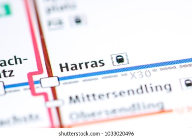 Harras Station. Munich Metro map.