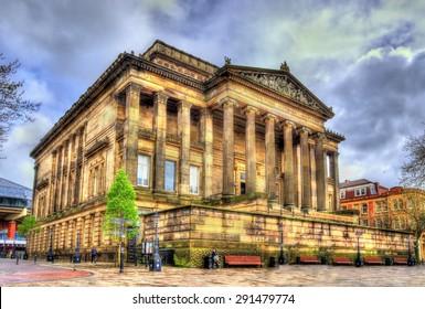 Harris Museum and Art Gallery in Preston - England