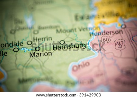 Harrisburg Illinois Map.Harrisburg Illinois Usa Stock Photo Edit Now 391429903 Shutterstock