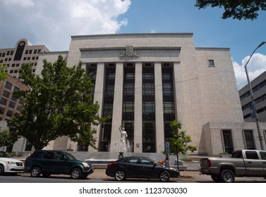 Harrisburg, Pennsylvania/USA - May 26, 2018: Dauphin County Courthouse Exterior