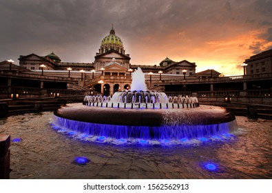 Harrisburg State Capitol Fountain Pennsylvania