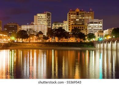 Harrisburg,Pennsylvania at Night