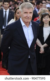 """Harrison Ford arrives for the premiere of """"Cowboys and Aliens"""" at the 02 cineworld cinema, London. 11/08/2011 Picture by: Steve Vas / Featureflash"""