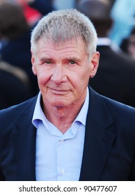 """Harrison Ford arrives for the premiere of """"Cowboys and Aliens"""" at the 02 cineworld cinema, London. 11/08/2011 Picture by: Simon Burchell / Featureflash"""