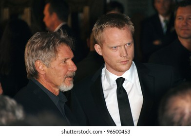 HARRISON FORD (left) & PAUL BETTANY at the world premiere of their new movie Firewall at the Grauman's Chinese Theatre, Hollywood. February 2, 2006  Los Angeles, CA.  2006 Paul Smith / Featureflash