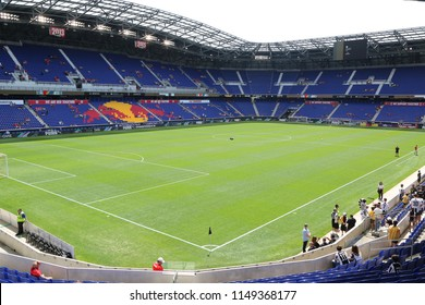 HARRISON, NJ - JULY 28, 2018:The Red Bull Stadium before Benfica  vs Juventus match at the 2018 International Champions Cup